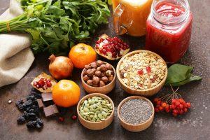 מגוון מאכלים ושמנים בריאים