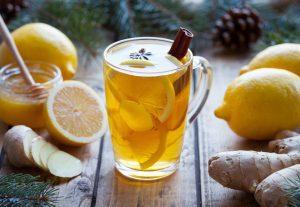 חליטת תה לימון